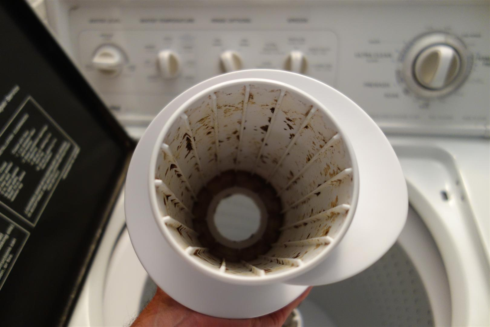 remove the agitator tip if your washer
